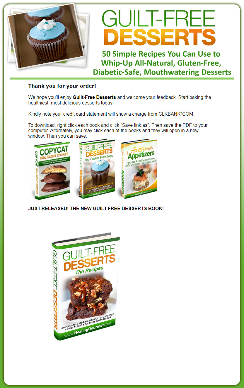 Guilt-Free Desserts Download Page