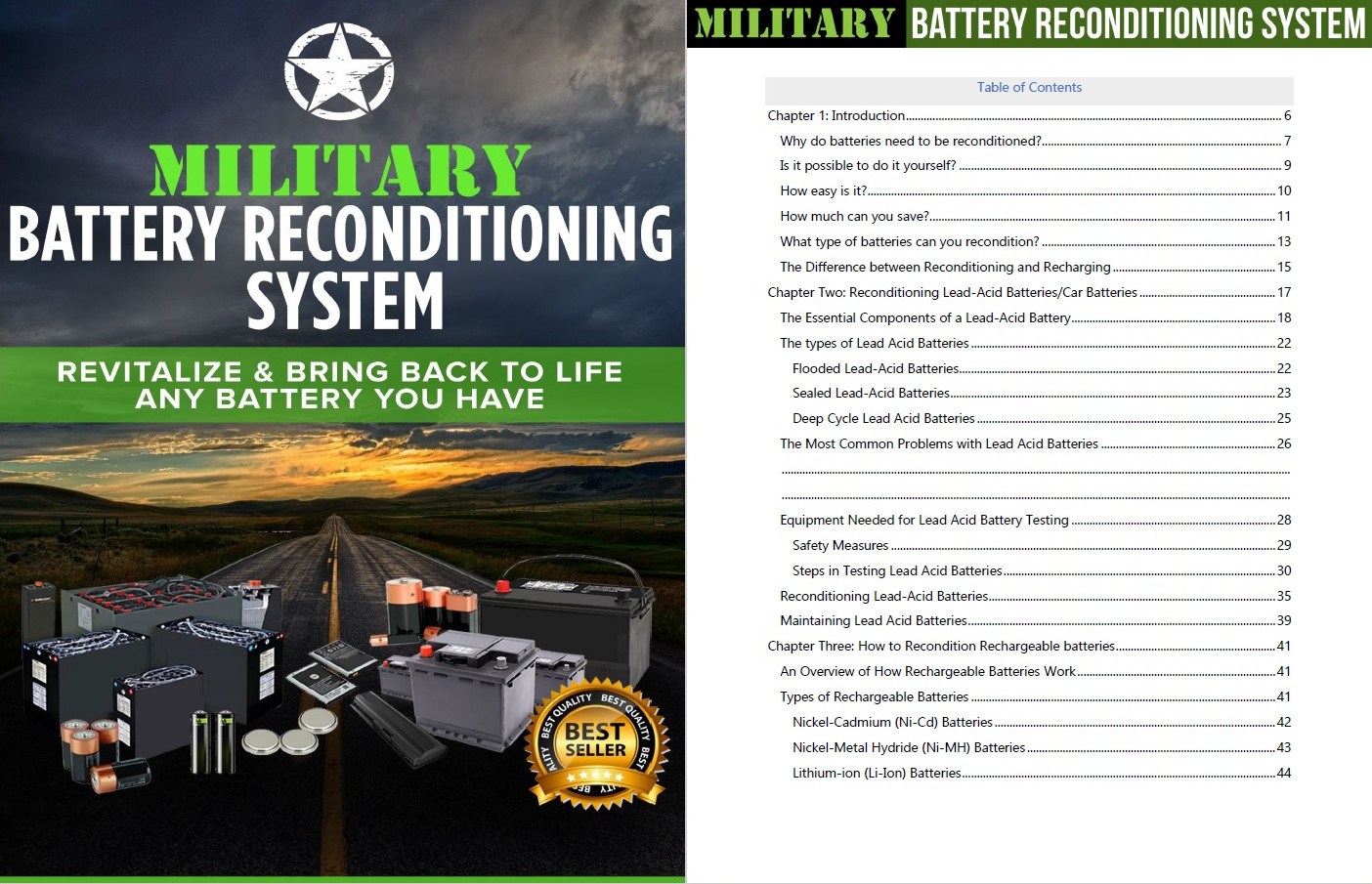 military battery reconditioning content page