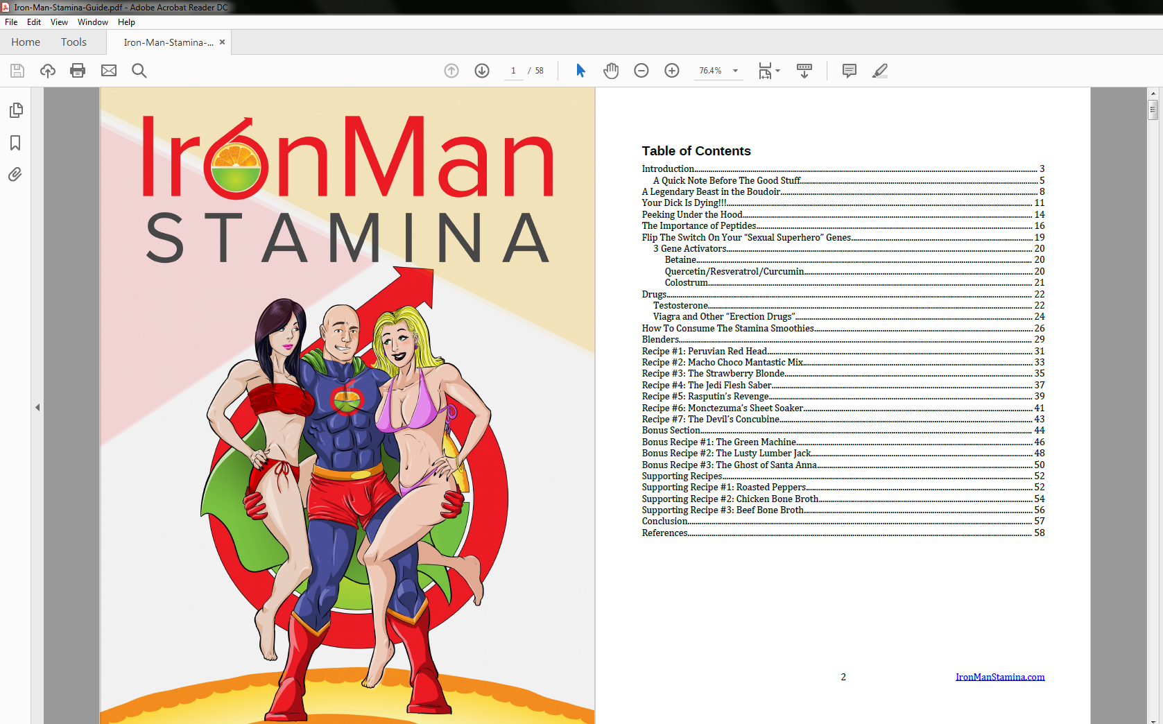 Iron Man Stamina Table of Contents