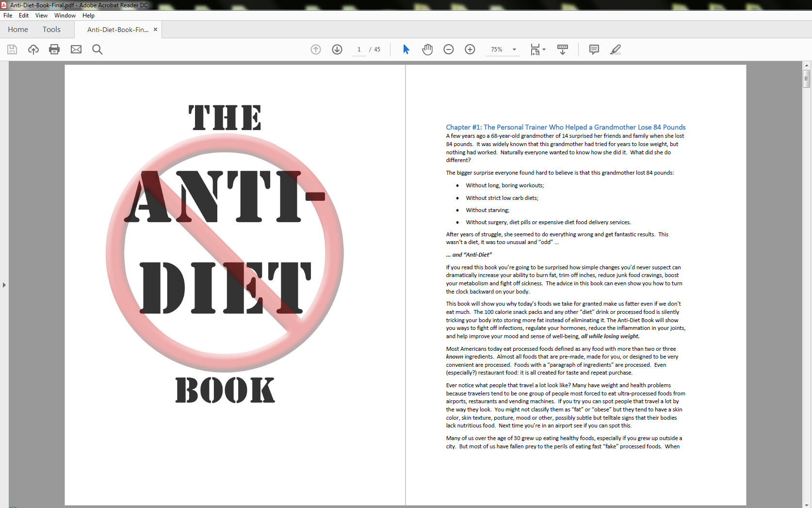 Anti-Diet Solution Table of Contents