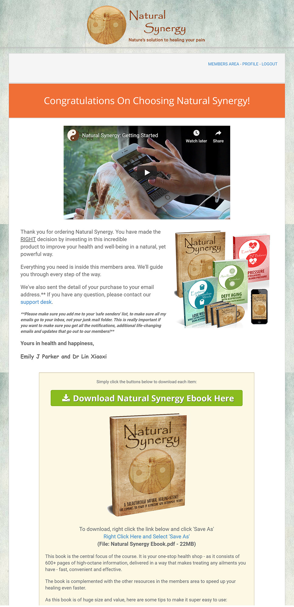 Natural Synergy Download Page