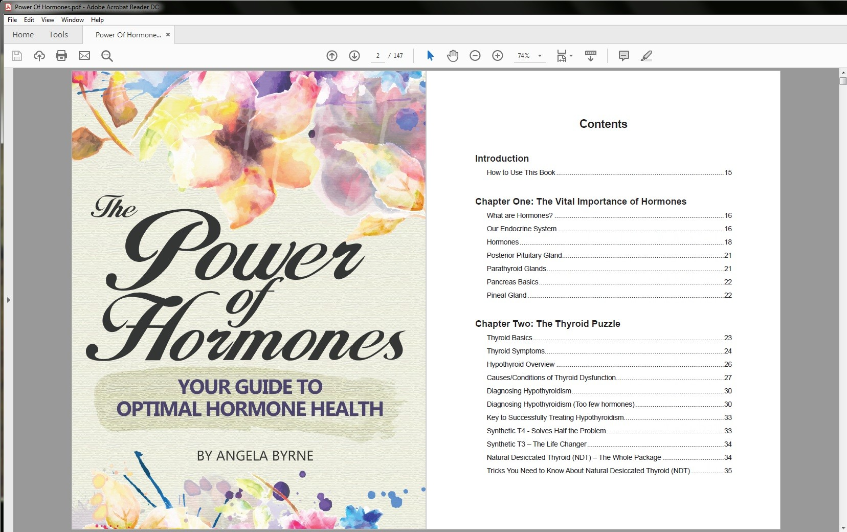 The Power of Hormones Table of Contents